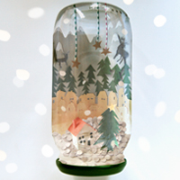 Create a Wondrous Winter Wonderland in a Jam Jar