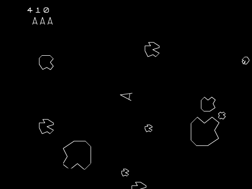 The classic game of Asteroids