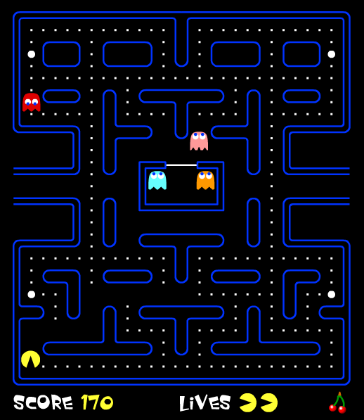 The original Pac-Man arcade game
