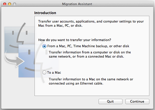 Apple Migration Assistant