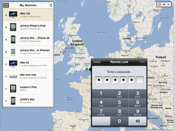 Find My Mac can remote lock your Mac