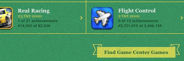 Find Game Center games