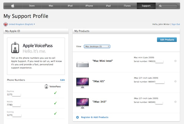 Apple Support Profile