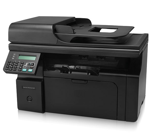 The HP MF1212 is a multifunction printer that includes a built-in fax machine