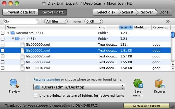 Disk Drill can scan your entire drive to find files of a certain type, allowing you to recover them