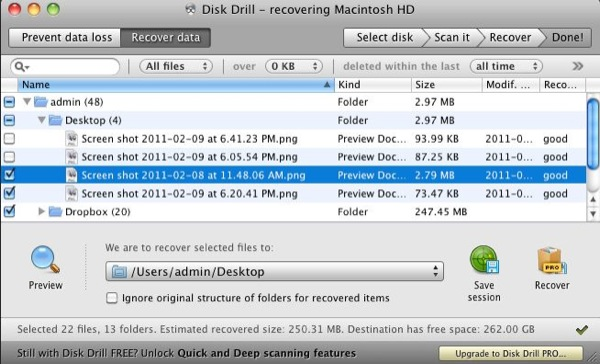 Disk Drill can sometimes find the original file and folder you are looking for, making it easier to recover them