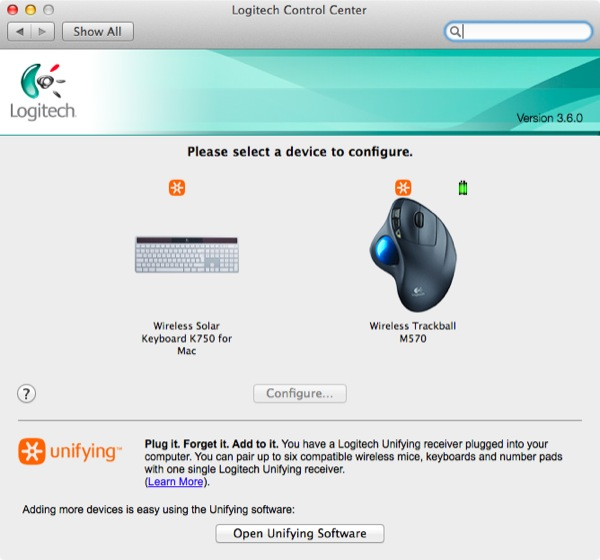 Logitech's Control Center lets you manage any connected Logitech devices