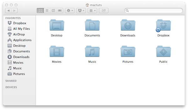 Dropbox automatically creates its own folder that will always remain in sync.