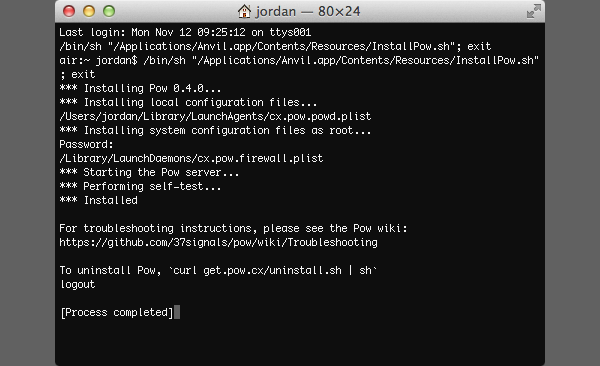 Pow installs via Terminal but dont worry, its painless!
