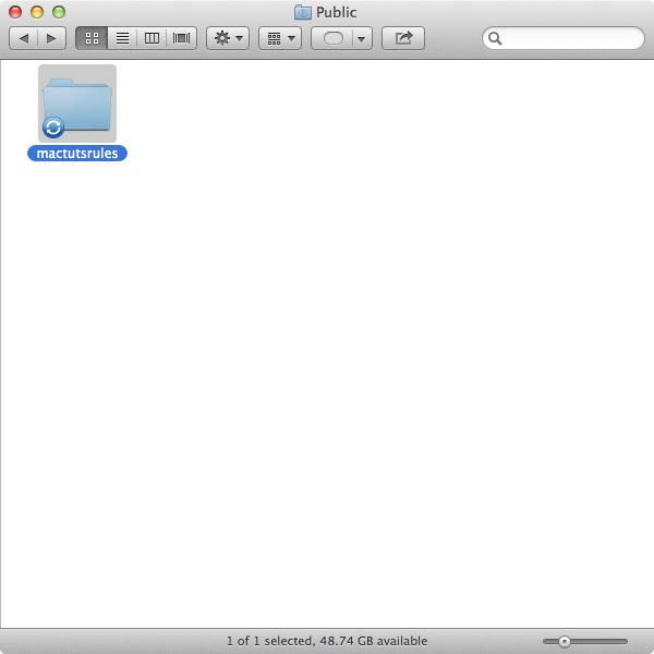 Step 1: Create a folder in your Public folder called mactutsrules.