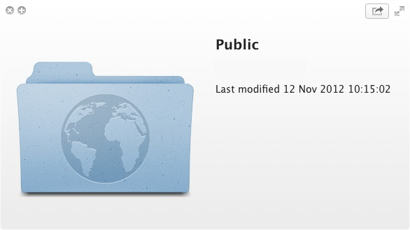 Dropbox contains a Public folder which were going to take advantage of.