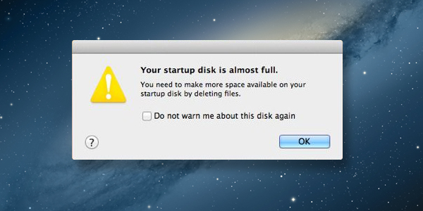Your startup disk is almost full, now what?