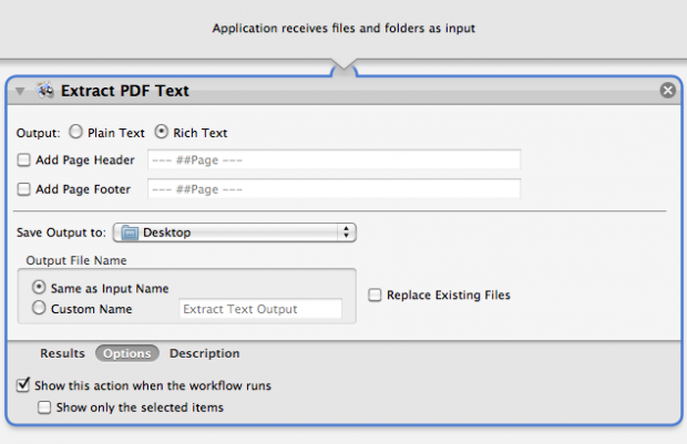 Extract Text from PDF Workflow