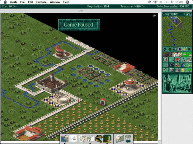 Caesar II is one of many classic games which never made it to OS X