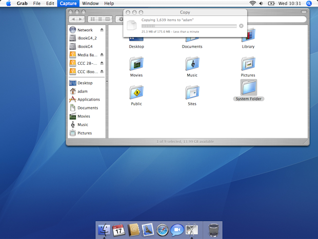 Copying OS 9&#039;s System folder to OS X Tiger