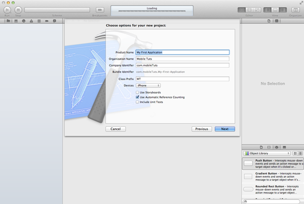 iOS Development Environment - Configure the Xcode Project Template - Figure 4