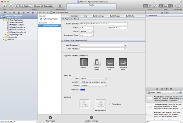 iOS Development Environment - Your First Xcode Project - Figure 6