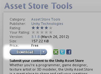 Download Asset Store Tools