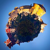 Using Polar Coordinates to Turn Landscapes into Planets and More