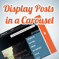 Displaying Posts in a Carousel