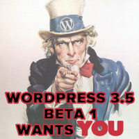WordPress 3.5 Beta 1 Wants You!