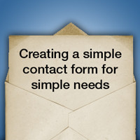Creating a Simple Contact Form for Simple Needs