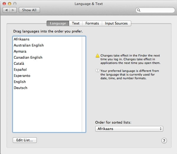 Did you know your Mac spoke a lot of different languages?