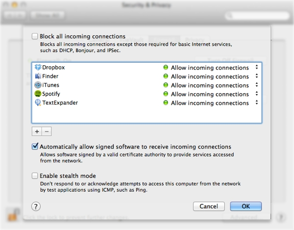 Tweak your firewall settings