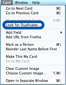 Address Book makes it easy to manage duplicate contacts.