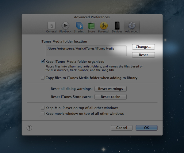 Setting iTunes To Use Another Drive For The Library As Well As Not Copying Your Media Files Will Help Keep Your Storage Space From Being Used Needlessly