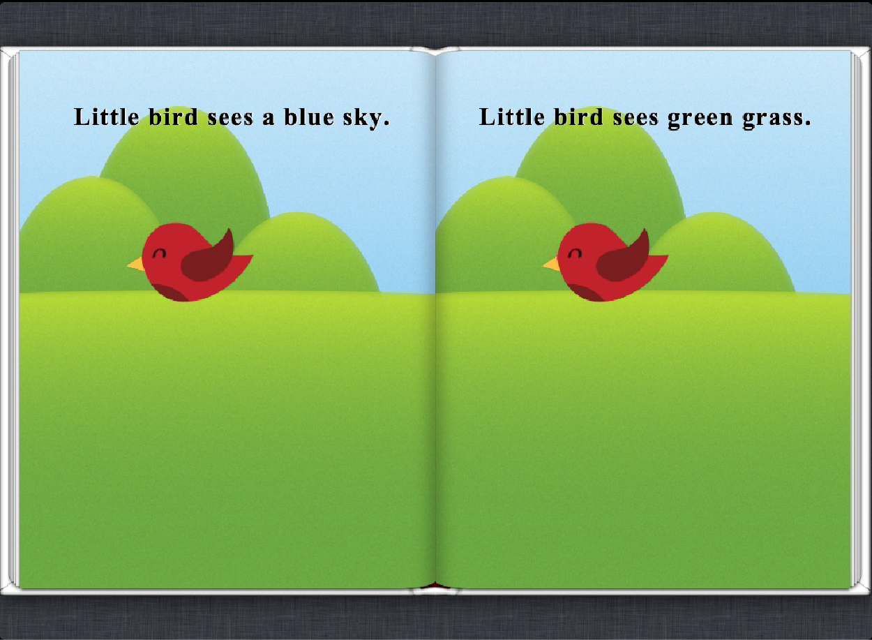 Screenshot: a Fixed Layout iBook