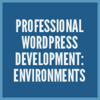 Professional WordPress Development: Environments